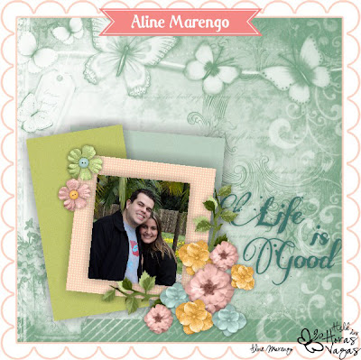 scrap digital scrapbook life is good spring primavera