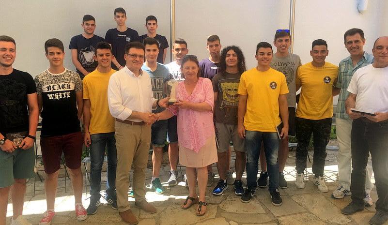 Τους πρωταθλητές του Γενικού Λυκείου Σουφλίου τίμησε ο Αντιπεριφερειάρχης Έβρου