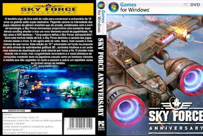 Jogo Sky Force Anniversary PC DVD Capa