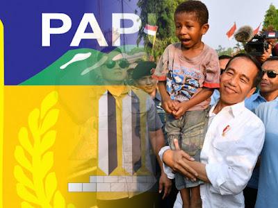 Presiden Jokowi Ama Tinjau Pasar Perbatasan RI-PNG di Wutung
