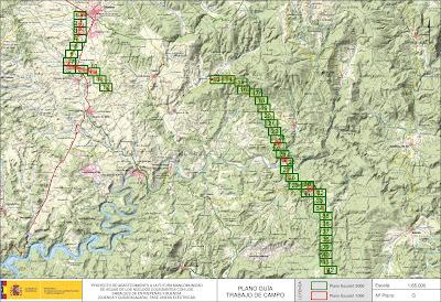 Mapa proyecto línea eléctrica Cifuentes - Peralveche