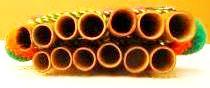 Imagen de los orificios de una zampoña común