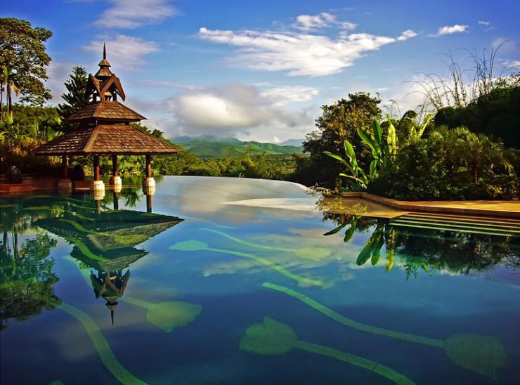 29 Most Amazing Infinity Pools in Pictures - Golden Triangle Resort, Chiang Rai, Thailand