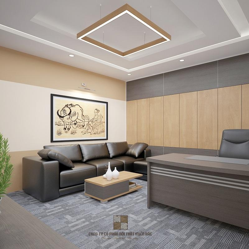 Tư vấn thiết kế nội thất văn phòng làm việc giám đốc lịch sự