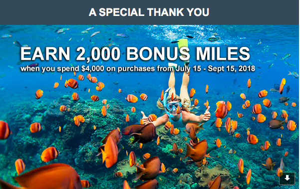 (Targeted) United MileagePlus Credit Card: Earn 2,000 Bonus Miles After $4,000 on Purchases From July 15 - September 15, 2018