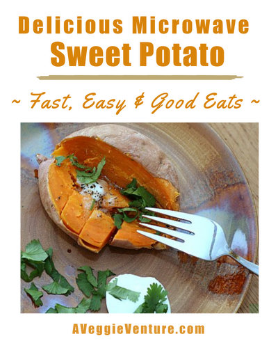 Delicious Microwave Sweet Potato ♥ A Veggie Venture, how to microwave a whole sweet potato.