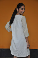 Radhika Cute Young New Actress in White Long Transparent Kurta ~  Exclusive Celebrities Galleries 091.JPG