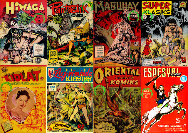 Filipino komiks from the 1950s.