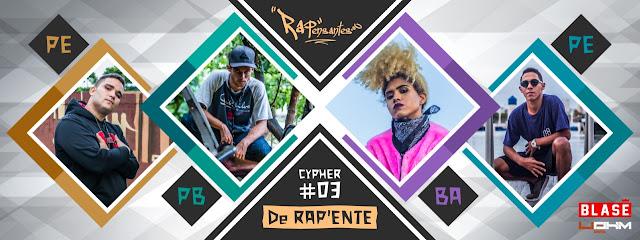 """Com a participação de Sinker (PE), Karau (PB), La Lunna (BA) e Melt CDB (PE), RAPensantes lança a 3º Cypher """"De RAP'ente"""""""