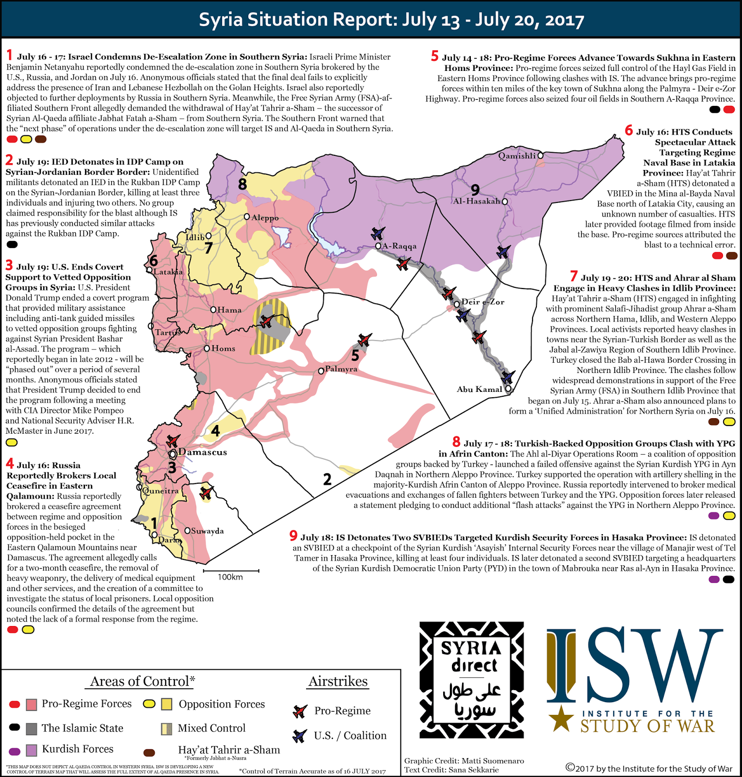 ISW Blog: Syria Situation Report: June 29 - July 27, 2017