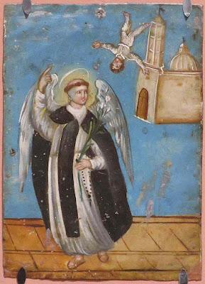 São Vicente Ferrer, retábulo mexicano anônimo.