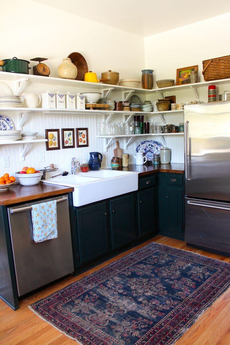 Put A Worn Oriental Rug In Your Kitchen