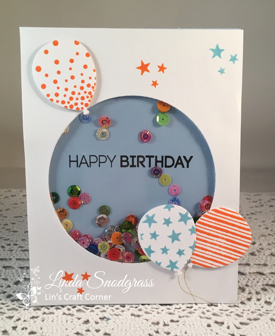 CAS Mix Up March 2018 Acetate Birthday Card For My Grandson Brennan