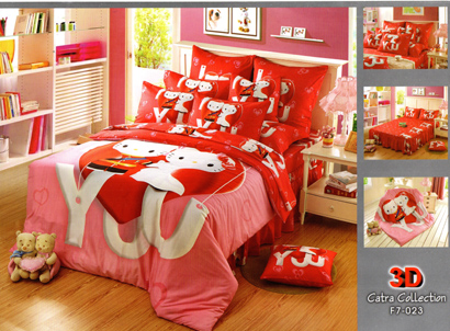 Sprei Satin Jepang Super Hello Kitty
