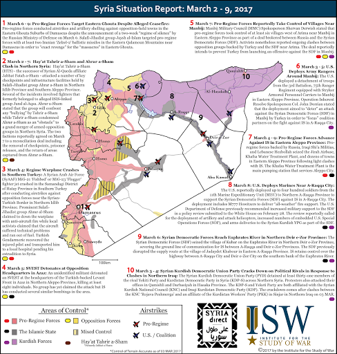 Syria Situation Report: March 2 - 9, 2017