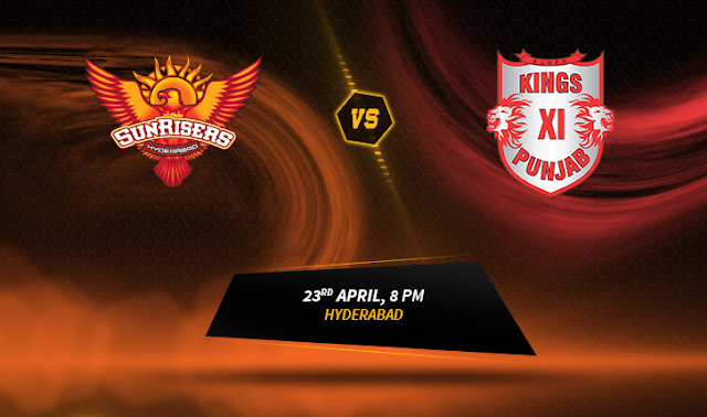 SRH vs KXIP live Streaming