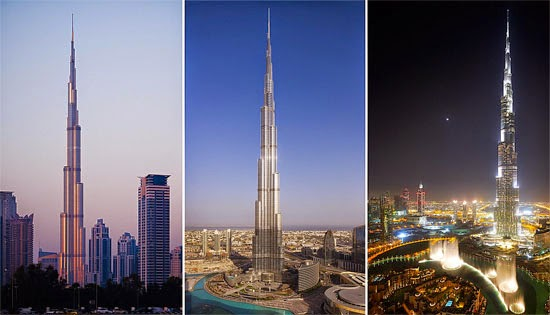 Edifício mais alto do mundo - Burj Khalifa
