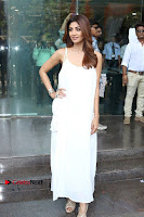 Bollywood Actress Shilpa Shetty Pos in White Gown at The Inauguration Of Shelar Make up Academy  0024.jpg