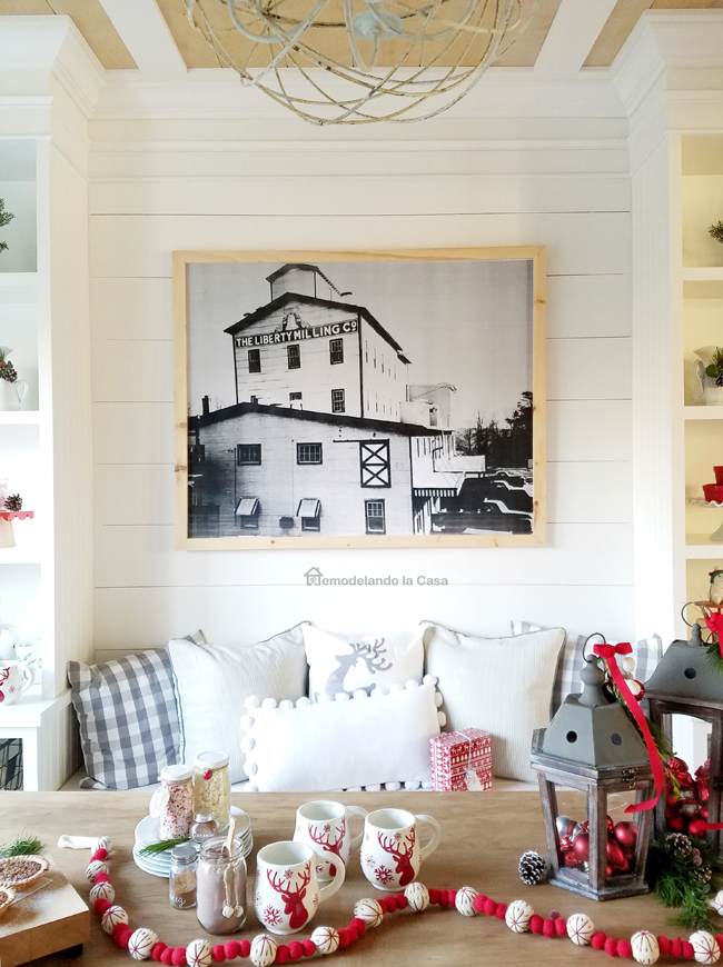 farmhouse wall decor - black and white photograph of mill in Germantown, MD