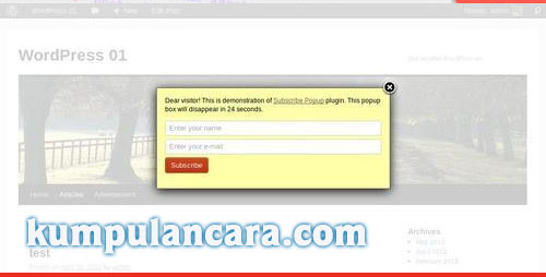 Subscribe PopUp Plugin - CodeCanyon