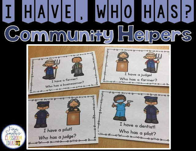 Teaching community helpers, lesson plans and resources at Fern Smith's Classroom Ideas.