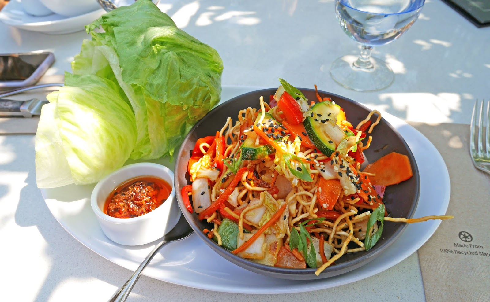 Thai lettuce wraps for lunch at the Joey Barlow restaurant in Calgary, Alberta