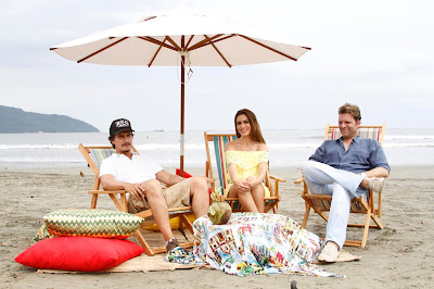 Na foto: Rogério, Ticiana e Bertolazzi. Crédito: Gabriel Gabe/SBT