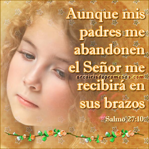 tu padre celestial no te abandonará reflexiones cristianas con imágenes arcoiris de promesas