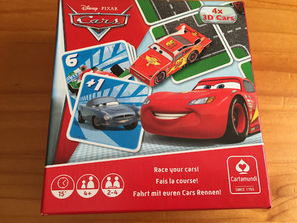 Cartamundi Disney Cars Racing and Action Game Box Review