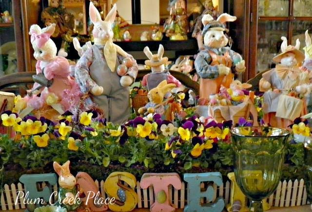 Comes Peter Cottontail Tablescape, Easter, Domestications, bunnies