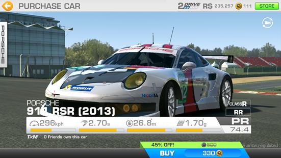 Real Racing 3 Car Sales Porsche 911 Rsr 2013