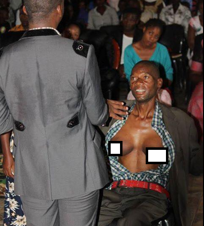 Photos: Man supposedly develops breast after a lady he promised marriage charmed him for not fulfilling his promise