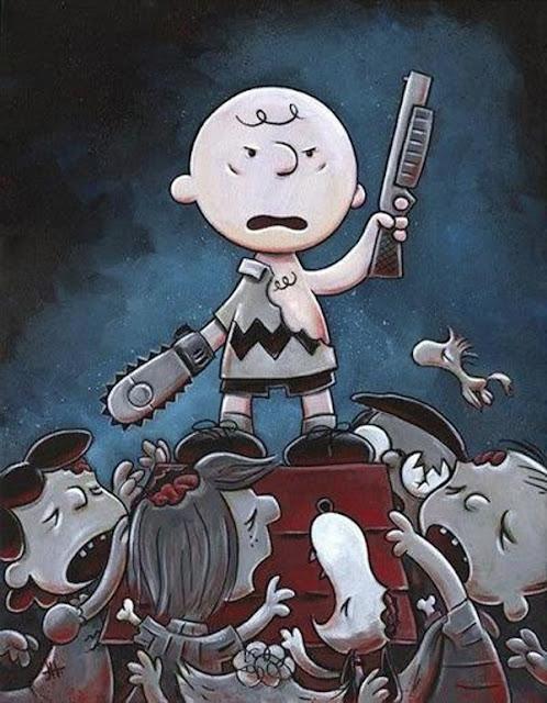 Meme de humor sobre zombis