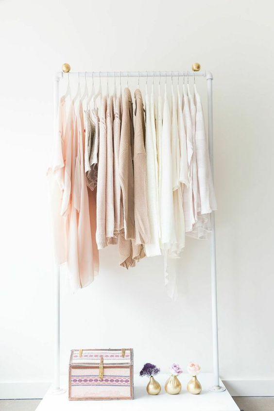 with this clothing rack you can make your own fairy tale select all your white and pastel clothes and decorate the bottom of the rack with small deco