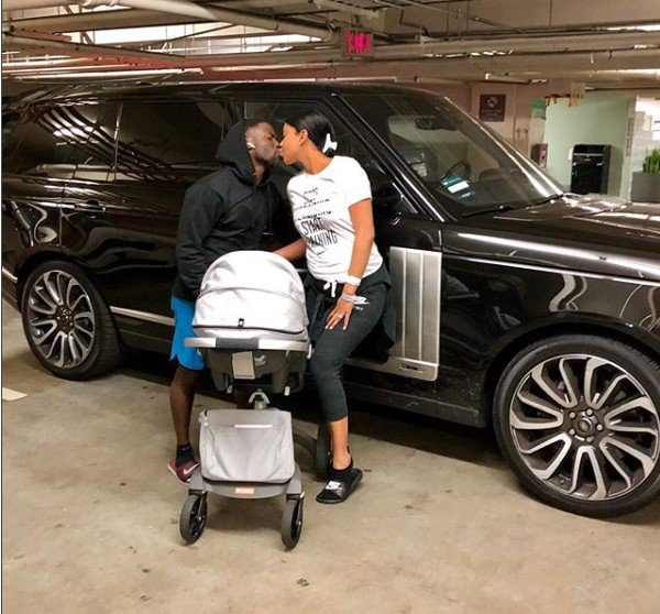 Kevin and his wife Eniko Hart return home with their newborn son
