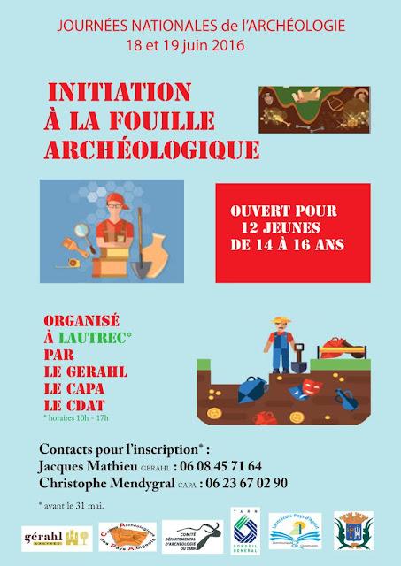 On recherche dans le Tarn pour les Journées Nationales d'Archéologie