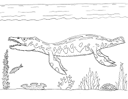 Printable Liopleurodon Coloring Pages