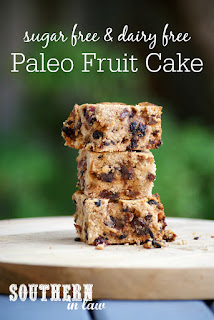 Gluten Free Paleo Fruit Cake Recipe for Christmas