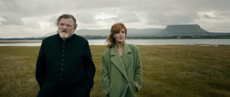 Brendan Gleeson and Kelly Reilly as father and daughter in Calvary.