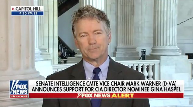 Rand Paul: I Want To Know What Haspel Knows About The Surveillance Of The Trump Campaign, If CIA Was Involved