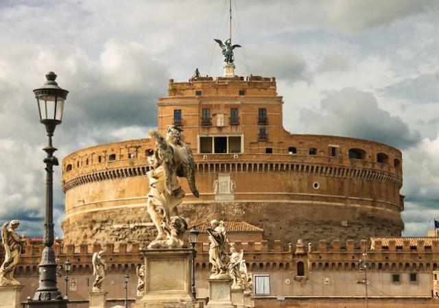 Castelo de Santo Ângelo em Roma na Itália