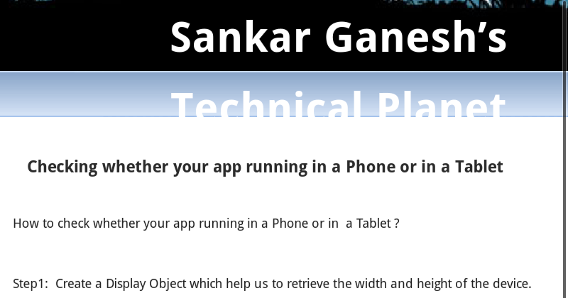 Sankar Ganesh's Technical Planet: Notification in Android