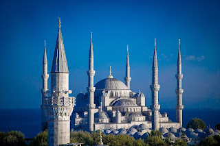 turkish temple blue sky