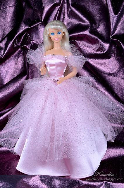 Handmade pink dress for Barbie