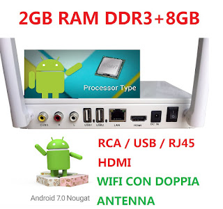 tv box android 2gb con antenna m12