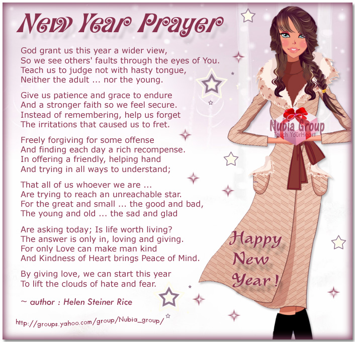 Nubia_group Inspiration *: New Year Prayer //