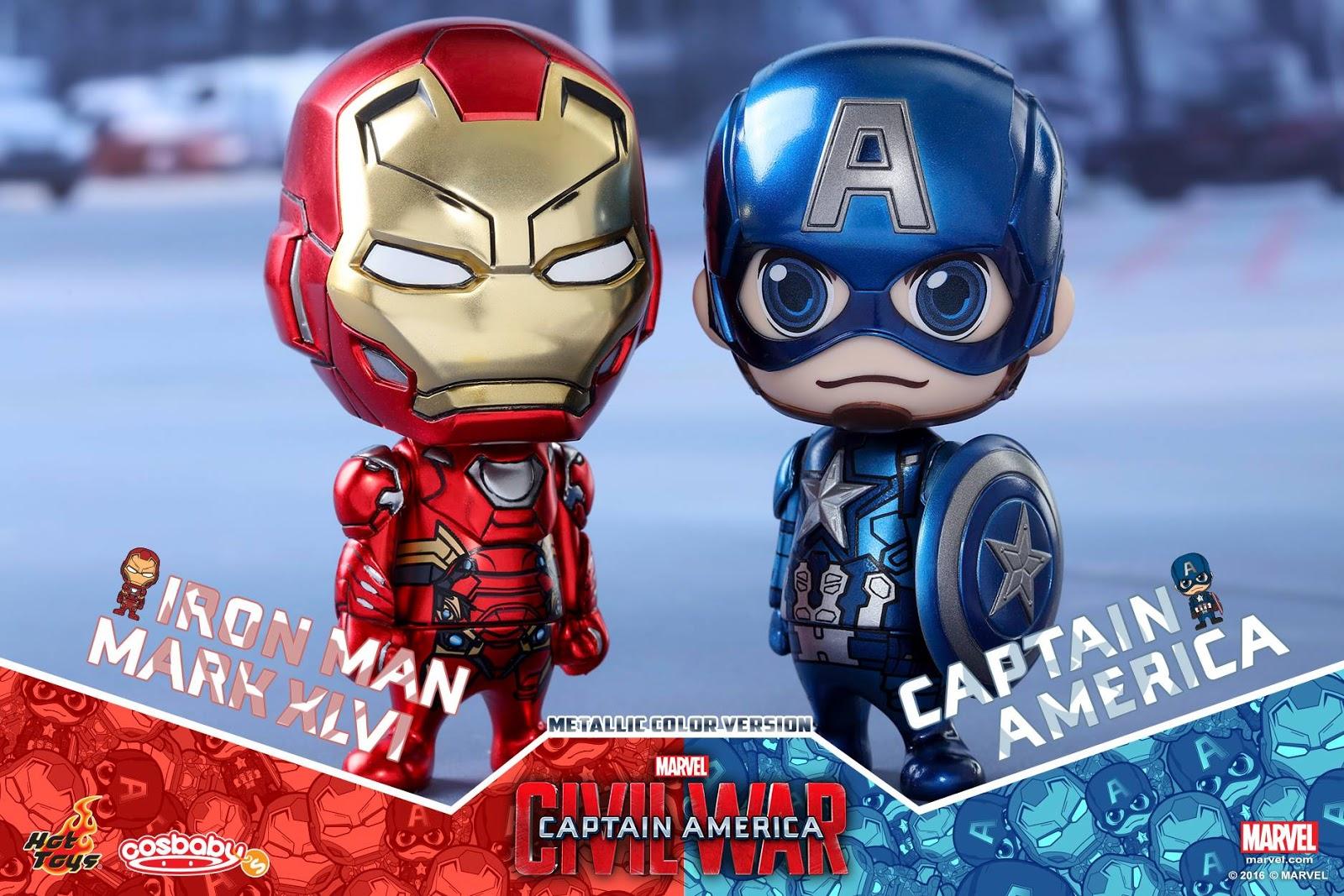 Hot Toys Adorable Cosbaby Captain America Civil War