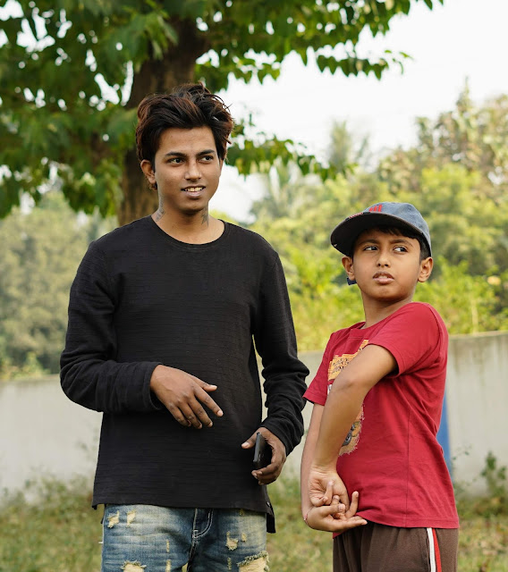 Sourajit Saha With Nephew 11