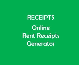 Online Rent Receipts Generator