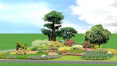 Desain Taman Median Jalan oleh Jasa Tukang Taman Surabaya 1